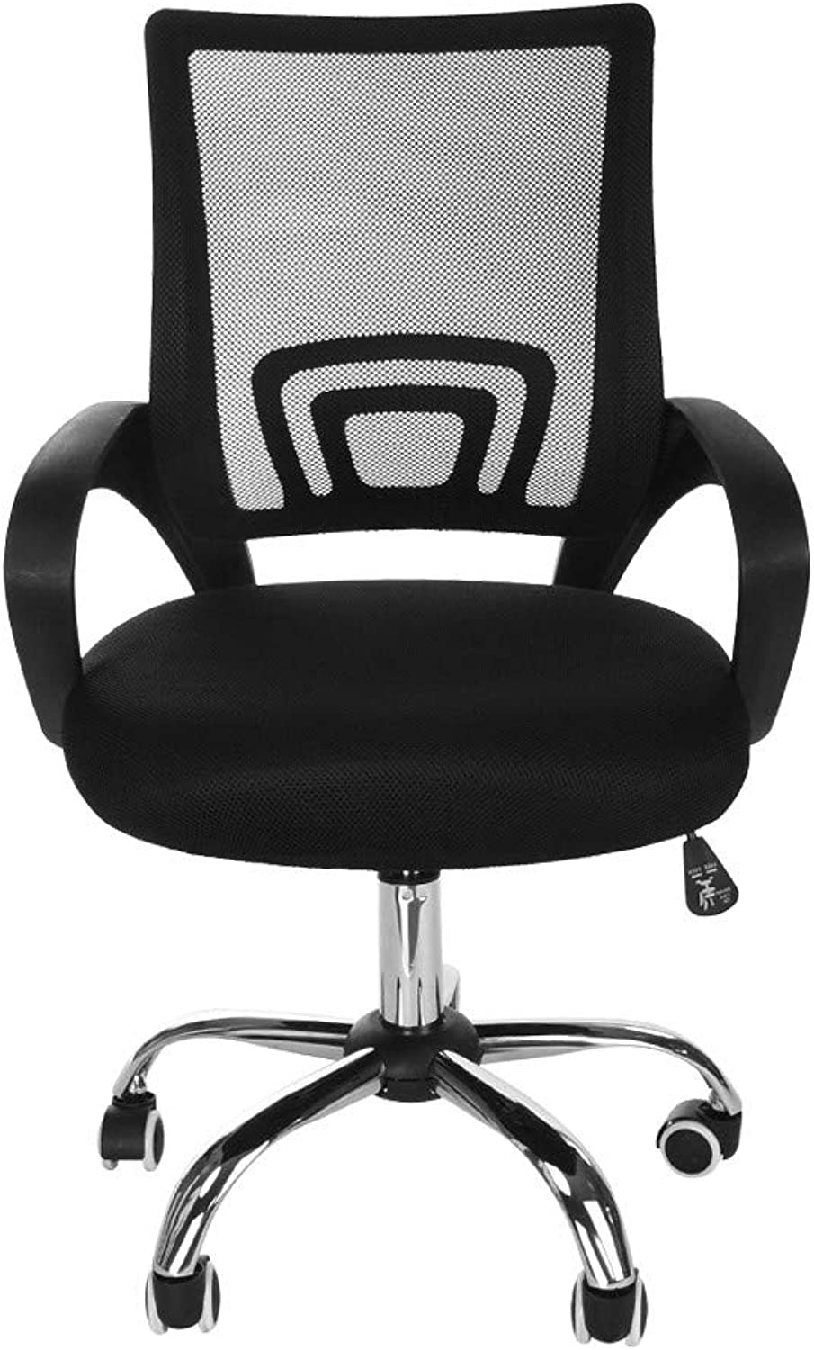 SSYUNO-Home & Garden Big and Tall Compute Ergonomic Office Chair, Height Adjustable Arms with Adjustable Lumbar, Black
