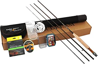 AnglerDream Caster 3/5/8WT Fly Fishing Combo 30T Carbon Fiber Fly Rod 3/4 5/6 7/8WT CNC Machined Fly Fishing Reel with Line Kit Starter Fishing Rod Combo