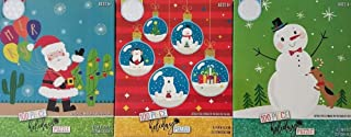 3 100 Piece Children's Christmas Holiday Jigsaw Puzzle Bundle Gift Set - Santa, Snowman and Ornament