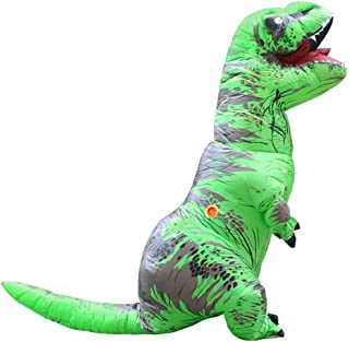 WEN-mask Halloween Dinosaur Inflatable Clothing, Holiday Party Props, Adult Style (Color : Light Green)