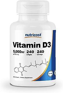Sponsored Ad - Nutricost Vitamin D3 5,000 IU, 240 Softgels - Non-GMO and Gluten Free Vitamin D