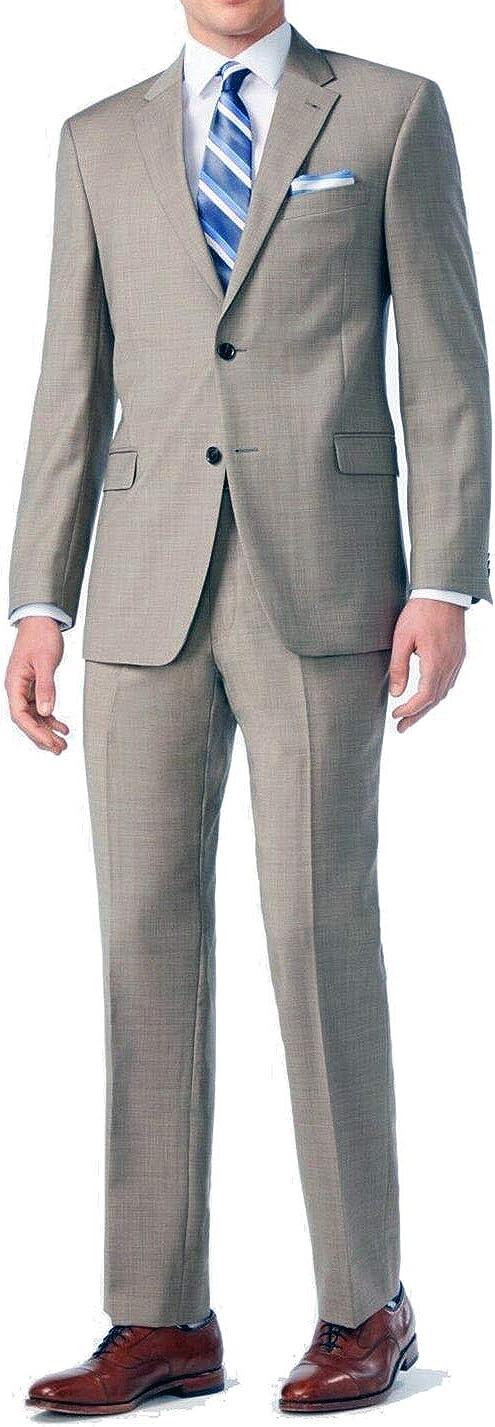 New Men's 2 Button Tan/Beige Dress Suit - Includes Jacket and Pants