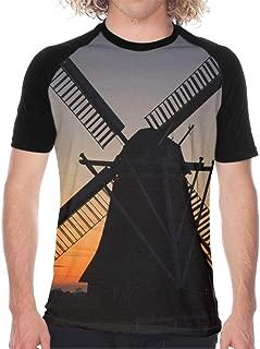 Men's Short Sleeve Baseball T-Shirts Windmill T-Shirts