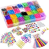 DasKid 12,000+ Rainbow Rubber Bands Refill Set 11,000+ Loom Bands 42...