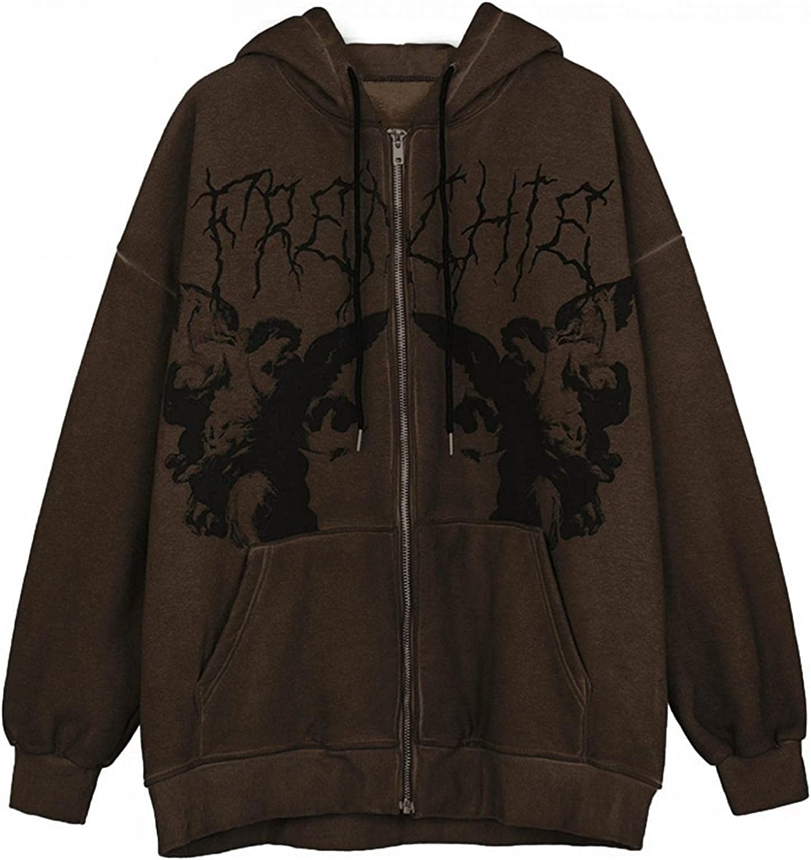 INNOVIERA Hoodies for Women,Womens Solid Color Zip Up Sweatshirt Jacket Long Sleeve Skeleton Print Pullover Tops Blouse Coat