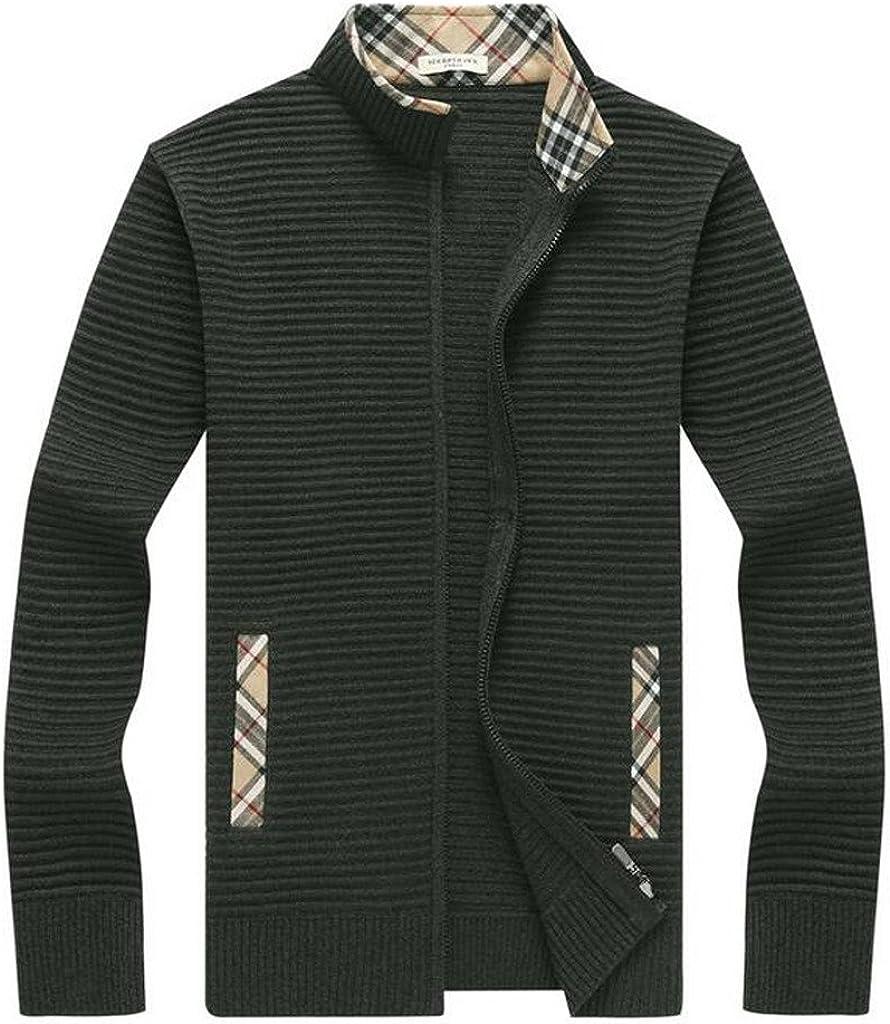 BATUOS Max 64% OFF Men's Ranking TOP15 Full-Zip Wool Sweater Knit Cardigan