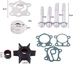 Qiilu Water Pump Repair Kit for Yamaha 40 50 hp Outboard 1984-1994 6H4-W0078-00-00 Rebuild Impeller