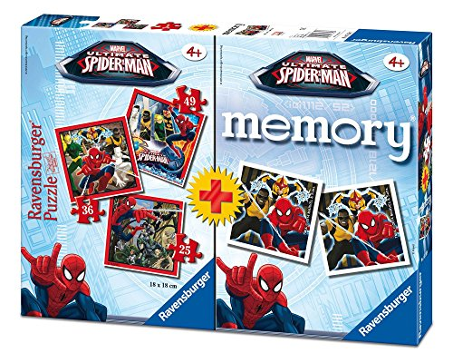 Ultimate Spider-Man Spiderman Pack Memory y Puzzle