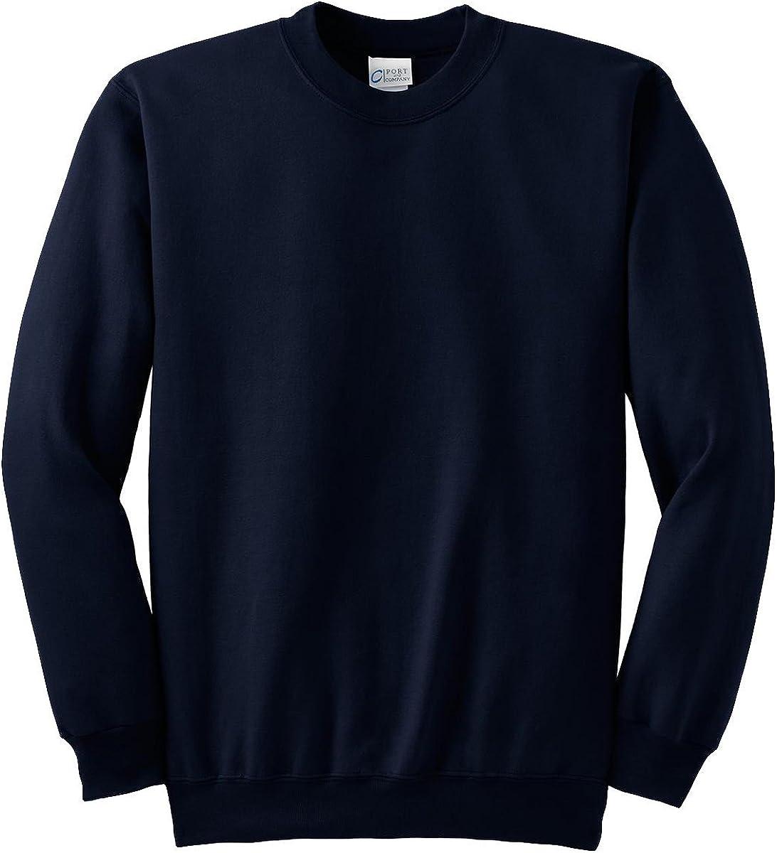 Port & Company Tall Essential Fleece Crewneck Sweatshirt. PC90T, Navy, 4XLT