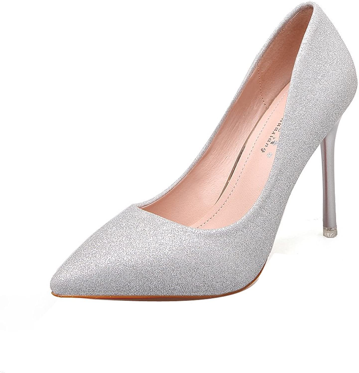 Ladola Womens Pointed-Toe Solid Tuxedo Slip-Resistant Urethane Pumps shoes