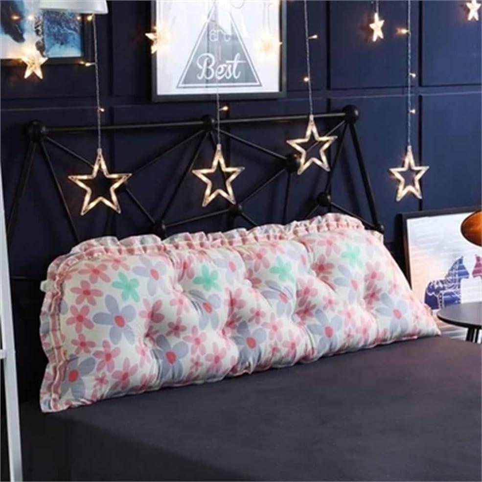 発揮する信じる購入GLP 人格韓国子供部屋プリンセスかわいいシンプルなストリップ綿背もたれベッド枕洗える漫画枕、19色&5サイズ (Color : R, Size : 200x18x55cm)