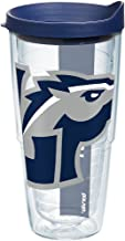 Tervis 1161430 Longwood Lancers Colossal Tumbler with Wrap and Navy Lid 24oz, Clear