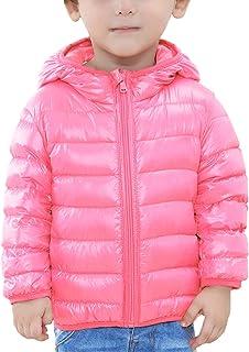 Down Jacket para Niñas Chaqueta Abajo Acolchado de Plumas de Patos Calentito Suave para Invierno