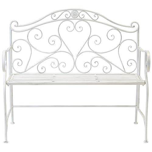Fantastic White Garden Bench Amazon Co Uk Theyellowbook Wood Chair Design Ideas Theyellowbookinfo