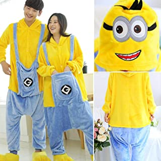 Halloween Pajama Adult Animal Cat Onesie Women Men Couple Winter Pajamas Suit Sleepwear Flannel Pijama HYBKY (Color : Clear, Size : XXS)