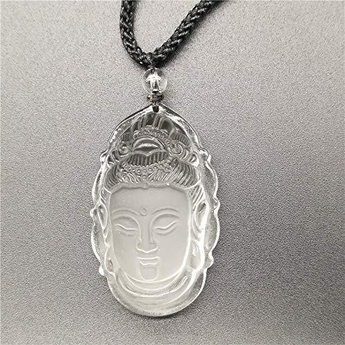 Perlen Vorhang Schmuck Weißer Kristall Peeling Anhänger Weißer Guanyin Kopf Anhänger Transhipped Buddha Kopf