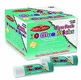 Charles Leonard Inc. 30 Glue Sticks per Box, White, 1 Box (94308)