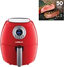GoWISE USA GW22633 2.75-Quart Digital 50 Recipes for Your Air Fryer Book, Red