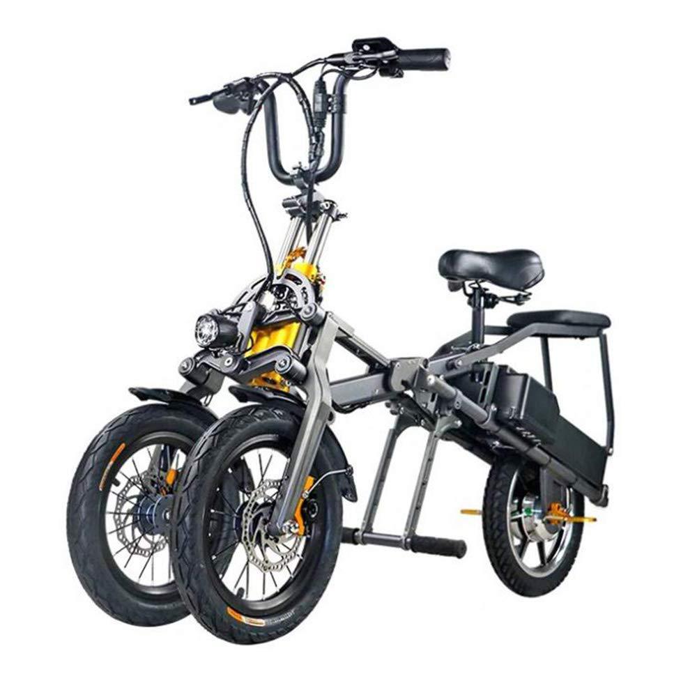 LLPDD Scooter, portátil Plegable eléctrico de Tres Ruedas de ...