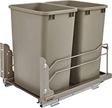 Rev-A-Shelf - 53WC-1835SCDM-212 - Double 35 Qt. Pull-Out Champagne Waste Container with Soft-Close Slides