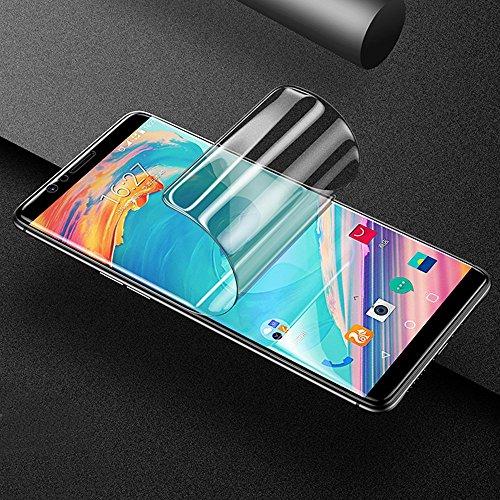 ONICO Display Schutzfolie für OnePlus 5T,TPU Selbstheilend Anti-Bläschen 3D-Gebogenen Volle Bedeckung Folie kompatibel mit OnePlus 5T [2 Stück]