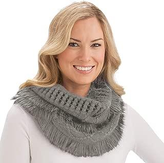 Best grey fringe infinity scarf Reviews