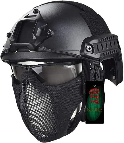 ventas en linea QZY Casco Táctico de Alta Configuración, Airsoft Airsoft Airsoft Paintball Seguridad Hard Hat CS Equipo Táctico con Gafas Y Máscara de Plantilla hombres y mujeres-9 Camuflaje  gran descuento