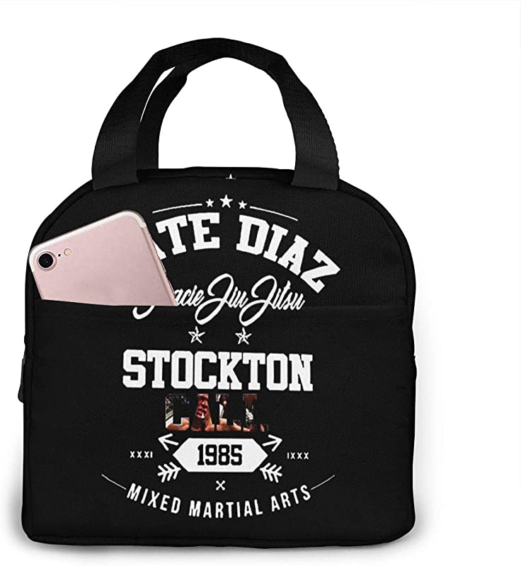 Lunch Bags For Men Women Nate Diaz MMA UFC Stockton Conor Mc Gregor Nick Boxing Insulated Durable Lunch Box Tote Bag Cooler Bag For Work School Picnic Travel Beach