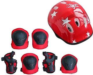 healthwen 7PCS / Set Juego de Equipo de protección para niños Scooter Skate Roller Ciclismo Rodilleras Coderas
