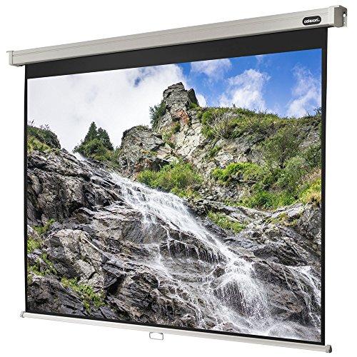 celexon manuell ausziehbare Heimkino- und Business-Beamer-Leinwand 4K und Full-HD Rollo-Leinwand Professional - 160 x 120 cm - 4:3 - Gain 1,2