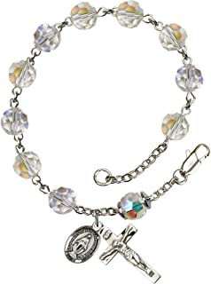 aurora borealis crystal rosary beads