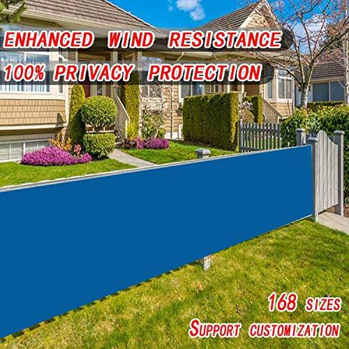 Ziligengsheng Balkonbespannung 70x400cm,Blickdichte Wind- und UV-Schutz,Balkonbespannung mit Ösen und Kordel,für Gartenzaun Balkonzaun, Blau
