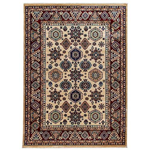 mynes Home Teppich Kurzflor Orientalisches Design Wohnzimmerteppich hochwertig luxuriös Orient in Creme (80 x 150 cm)