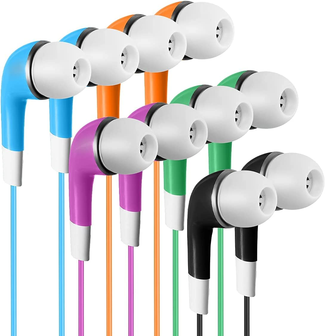 SP Soundpretty Bulk Kids Earbuds for Multi 100 Co New color Max 42% OFF Classroom Pack