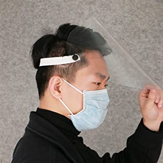 Full Face Protection Hat,adjustable size Transparent Protective Hat Suitable for public places, 10Pcs