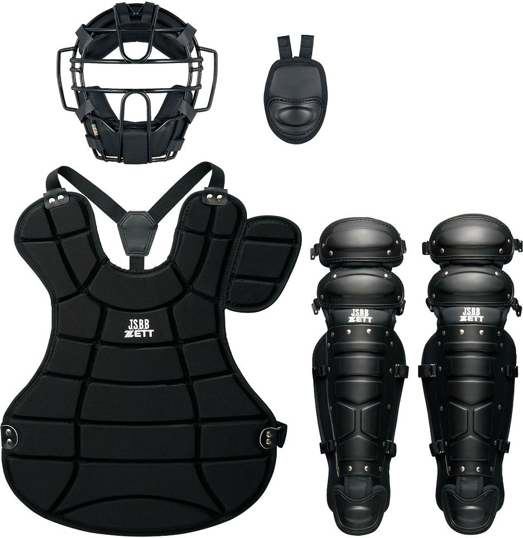 ZETT (Gazette) Baseball Softball catcher armor 4piece set BL302SET black (1900)