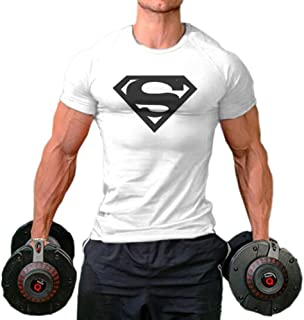 Men Fittness S Logo Bodybuilding Sport Gym T-Shirts