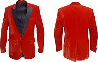 Men's Kingsman 2 The Golden Circle Orange Velvet Tuxedo Blazer 2XS to 3XL & BNWT