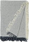 Tienda EURASIA® Colcha Multiusos para Sofá Estampado Espiga - Plaid Multiusos para Cama - Foulard Ideal para Sofás y Camas (Gris Oscuro, 180 x 260 cm)