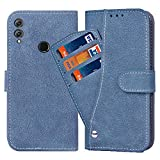 Asuwish Huawei Honor 8X Case,Luxury Leather Wallet Phone Cases with Credit Card Holder Slot Stand Kickstand Book Rugged Flip Folio Protective Cover for Huawei Honor 8X Women Men Girls Blue