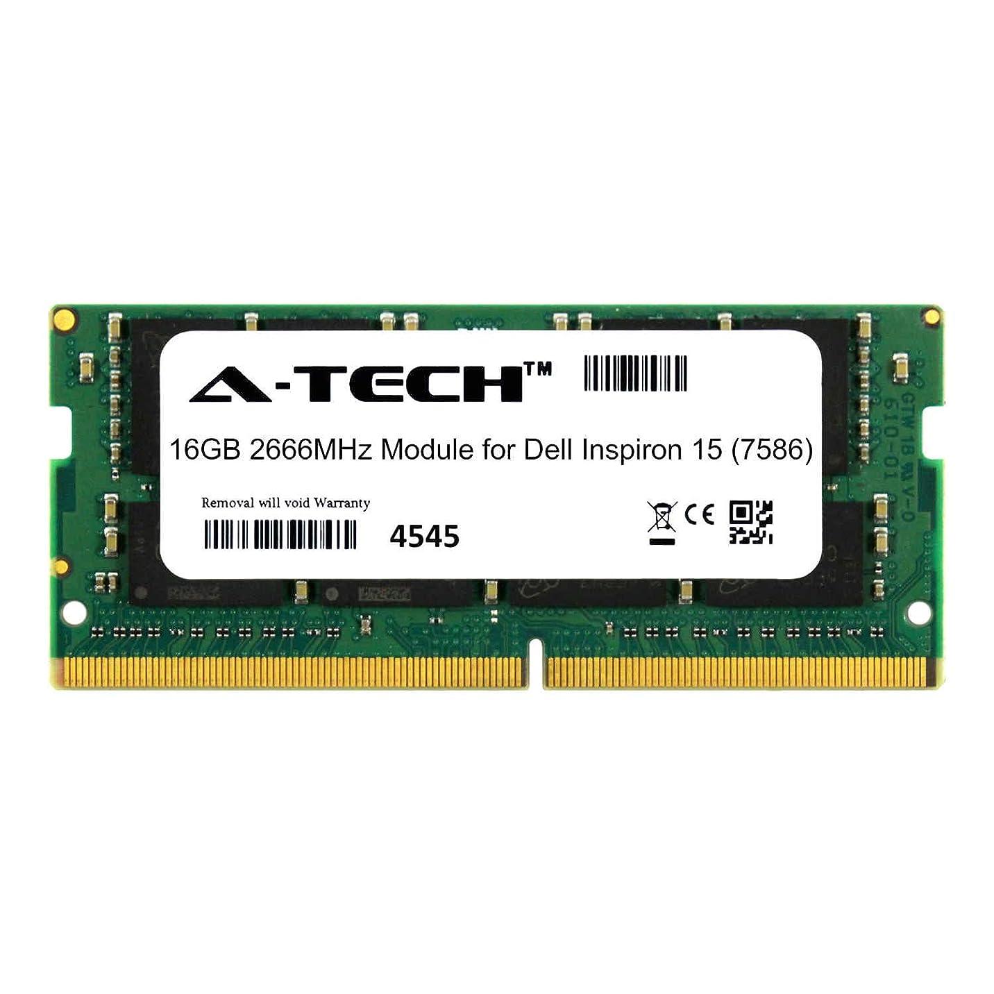 スナック火星たぶんA-Tech 16GB モジュール Dell Inspiron 15 (7586) ノートパソコン & ノートブック用 DDR4 2666Mhz メモリラム対応 (ATMS277774A25832X1)
