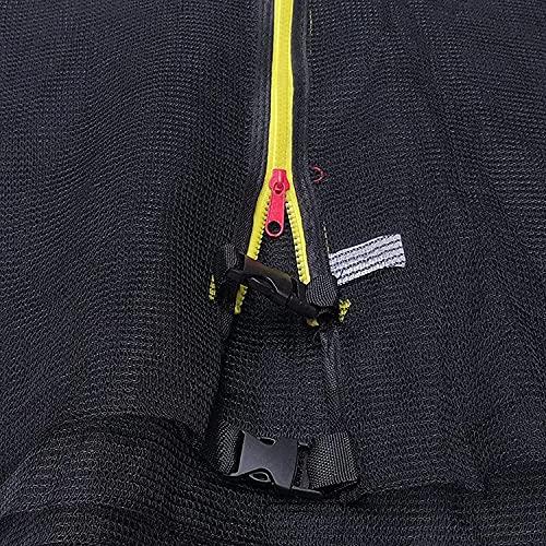 VULLDWS Red de trampolín 305 366 396 427 430 cm 6 8 Poles, Neto Redondo Neto Neto Neto Nieve con Cremallera y Hebillas, Altura de Red 163/180 cm (Color : 305 cm 6 stangen)