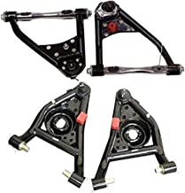 A-Team Performance Front Tubular Upper & Lower Control Arms Set with Bushing and Ball Joint Compatible with 1967-69 Camaro Firebird 68-74 Nova Black