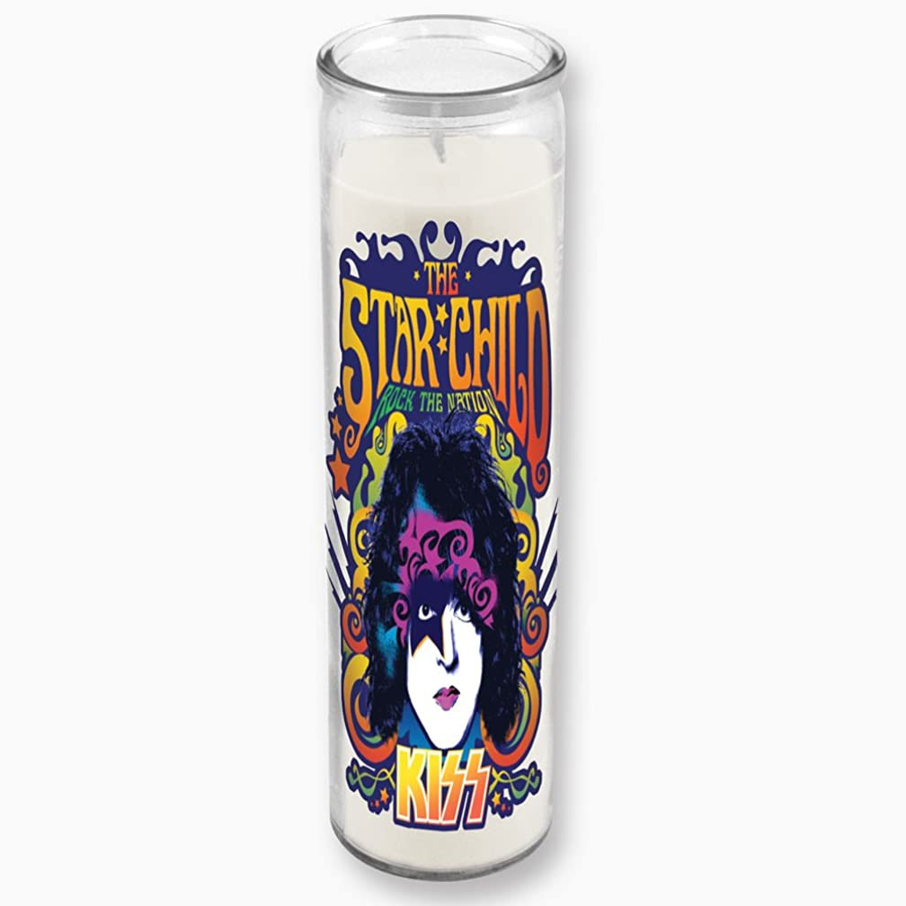 ICUP KISS - The Starchild Clear Glass Tall Candle With Unscented White Wax