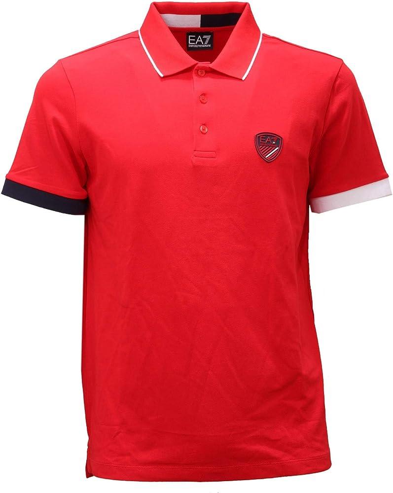 Emporio armani, polo da uomo, maglietta a maniche corte, 100% cotone 3HPF18 PJ04Z 1451