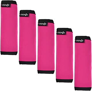 Cosmos ® 5 PCS Hot Pink Color Comfort Neoprene Handle Wraps/Grip / Identifier for Travel Bag Luggage Suitcase