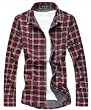 [CEEN] シャツ メンズ カジュアル ギンガムチェック 長袖 ネルシャツ 大きいサイズ 春