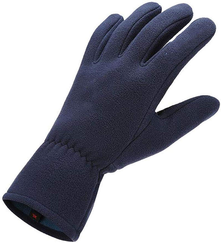 Fleece-Touchscreen-Handschuhe Herren Winter Warm Skid Ski Gepolsterte Windproof Outdoor Sport Praxis Reiten 2 Farbe MUMUJIN ( Farbe   Blau , gre   M )