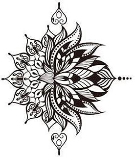 CQHUI 1 stks Snake Tattoo Sticker Waterdichte Tijdelijke Sticker Geometrische Planeet Tattoo Zwart Tatoeages Body Arm Here...