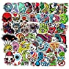 ステッカー 50ピース漫画ハイドロフラスクホラースカルステッカークールアニメ防水ステッカー荷物スケートボードラップトップギターグラフィティキッズトイズ 絶妙なステッカー (Color : Skull 50pcs)
